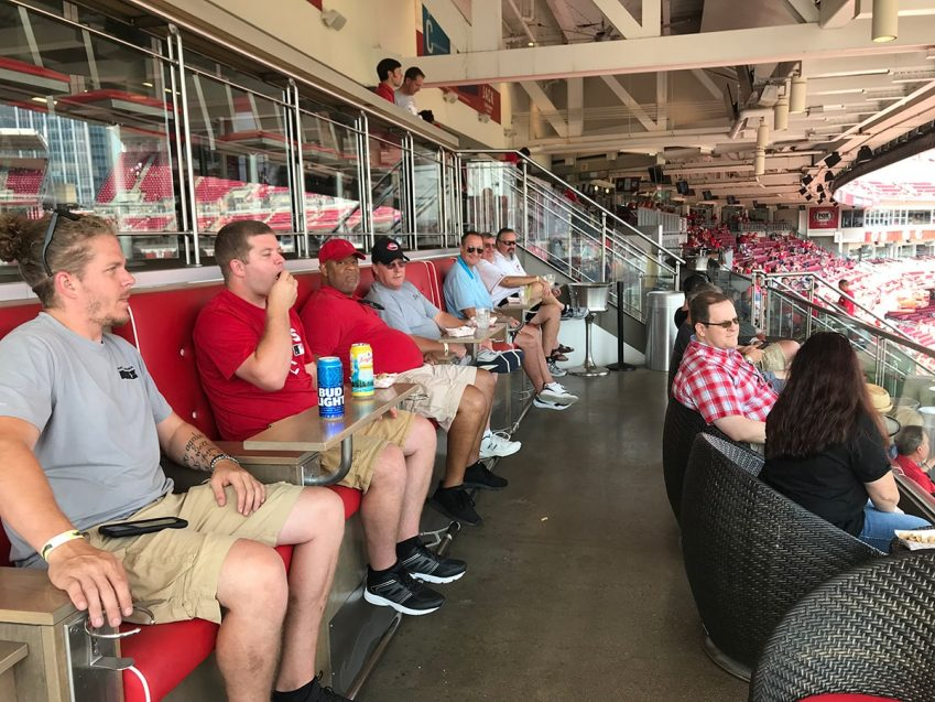 STI-TEC Fairborn Office at the Reds' Game